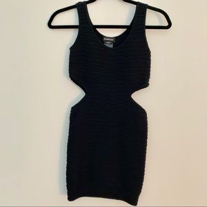 Bebe cut out bodycon dress